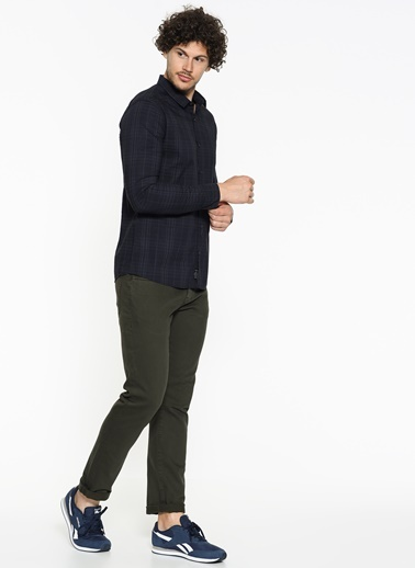 Kareli Gömlek-Mavi